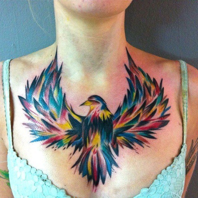 100 best images about ladies chest tattoos on pinterest for Chest tattoos for women