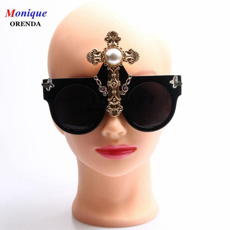 Gafas de Sol de marca gafas de Sol 2017 Mujeres Cruz de Metal Estilo de la Reina de Lujo gafas de Sol Para Las Señoras de Gran Tamaño gafas de Sol de Los Hombres en Gafas de sol de Ropa y Accesorios de las mujeres en AliExpress.com | Alibaba Group