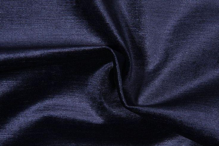 EXQUISITE 10 YARDS ROBERT ALLEN BEACON HILL SAVOY NAVY BLUE VELVET FABRIC OUTLET  | eBay