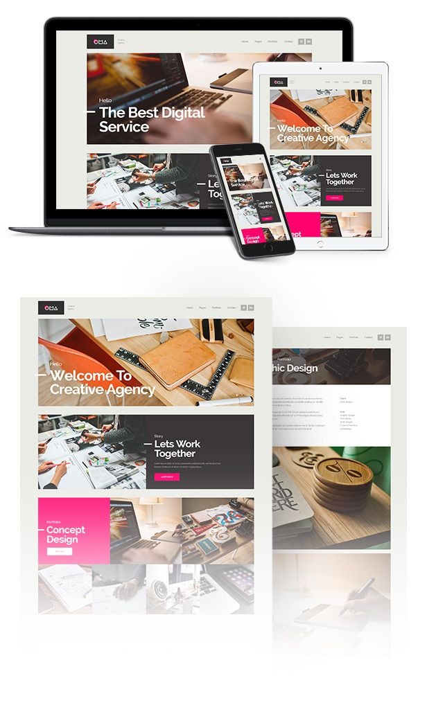 OMA Creative Agency Muse Template 390