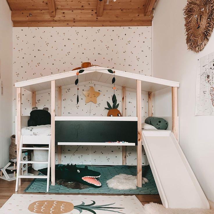 Hausbett Cory Weiss Kiefer 90 X 200cm In 2020 Hausbett Bett