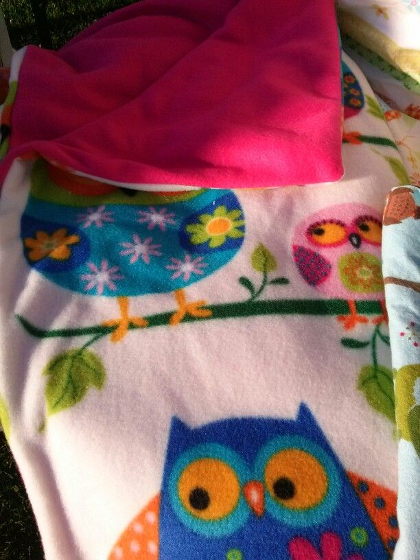 Pink and Blue Owls