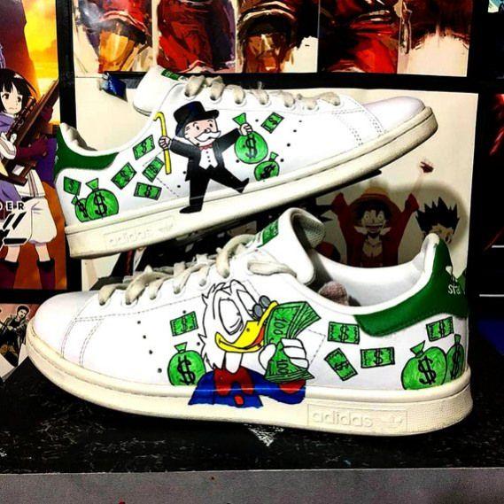 Custom Adidas stan smithalecmonopolymonopolyScrooge McDuck