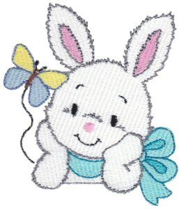 Bunnies 7 single machine embroidery design for instant download.