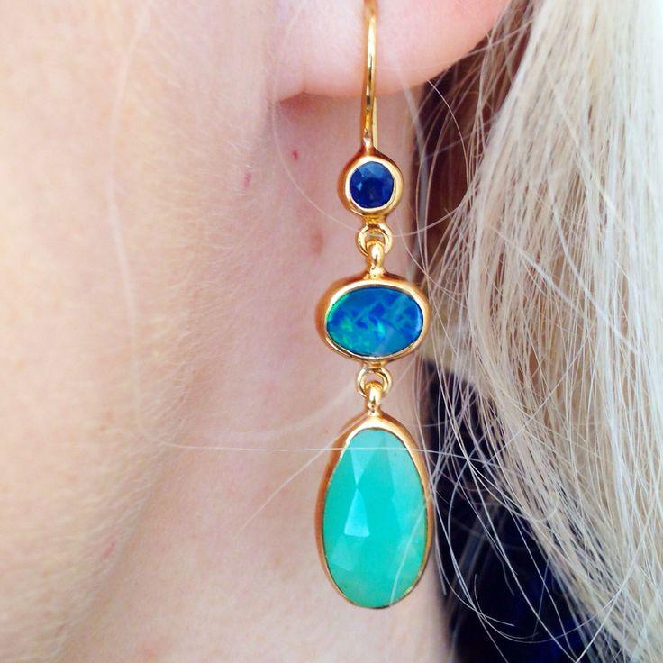 Sapphire, opal, chrysoprase