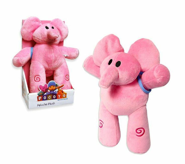 Elly, una elefanta juguetona en forma de peluche de 30 cm. Suave y liviana, ideal para los juegos y paseos de niños