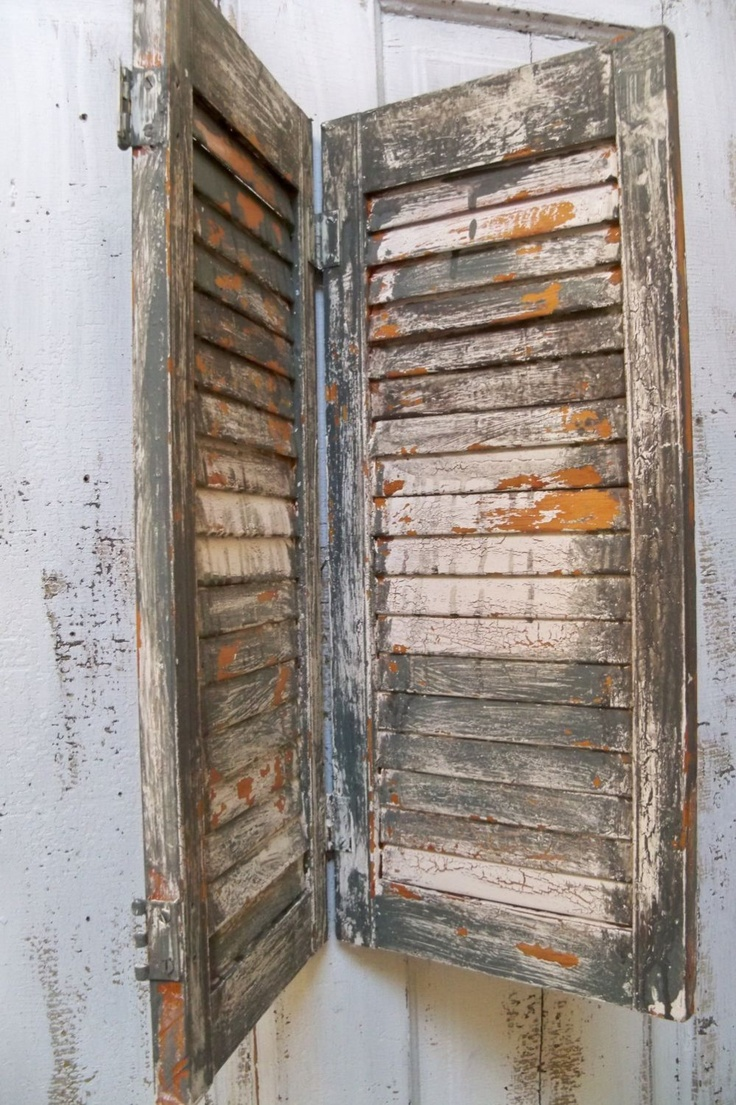 44 Best Distressed Shutters Images On Pinterest Distressed Shutters Furniture And Cabinet Doors