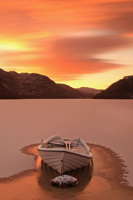 Sunset Beach Ocean Boat