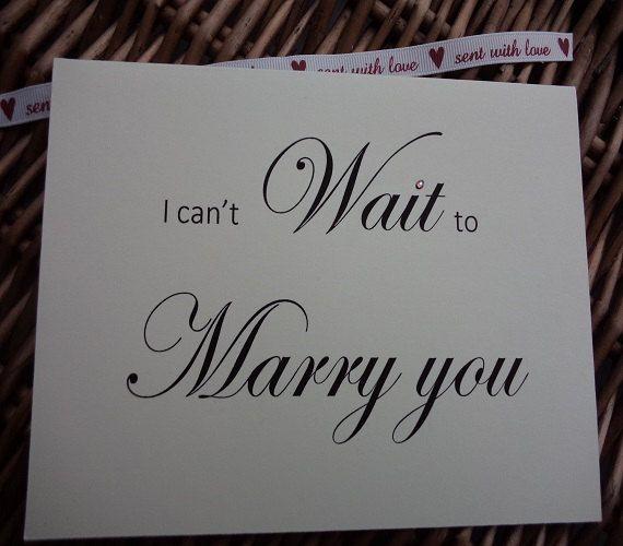 I can't wait to marry you card wedding card by WendysWeddingCorner