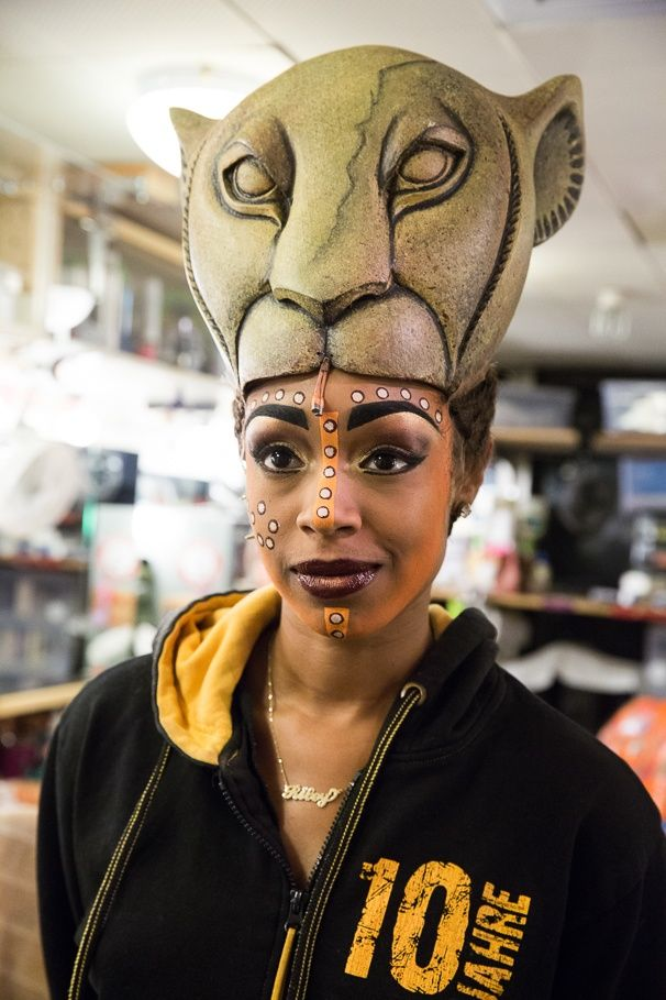 Chantel Riley from Disney's The Lion King before the show's 17th anniversary performance.