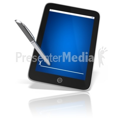 Digital Signature Presentation clipart Tablet Stylus