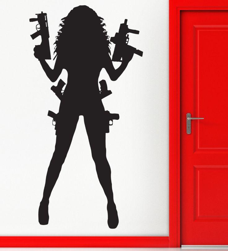 Sexy-Gangster-Meisje-Mafia-Wapens-Wall-Art-Stickers-Decal-Thuis-DIY-Decoratie-Muurschildering-Slaapkamer-Decor-Muurstickers.jpg (1000×1100)