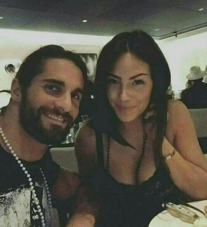 Seth Rollins with his girlfriend
