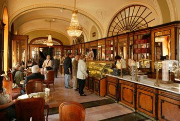 Cafe Gerbeaud is one of the oldest coffee houses in Budapest.
