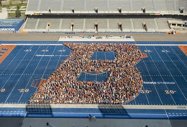 "The Boise State University campus is full of Bronco spirit as fall semester kicks off this week. On Friday, new students and their families formed a ""B"" on the blue turf of Albertsons Stadium, and Bronco Welcome activities continue for new …"