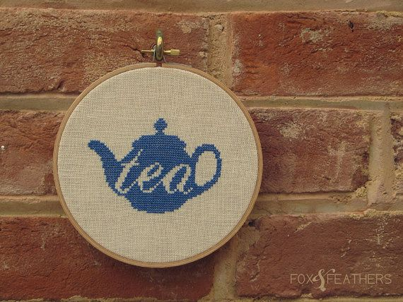 Teapot Love PDF Cross Stitch Pattern by foxandfeathers on Etsy, $4.00