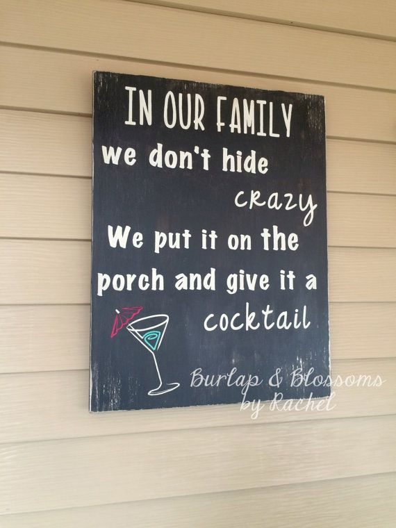 In our family we don't hide crazy we put by BurlapAndBlossomsbyR