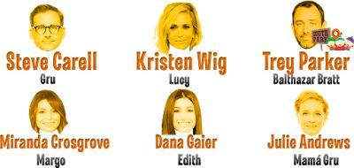Estos actores y actrices son los encargados de darles voz a los minions y personajes de Mi Villano Favorito 3 https://wikiabby.blogspot.mx/2017/07/mi-villano-favorito-3-minions.html