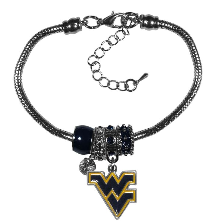 "Checkout our #LicensedGear products FREE SHIPPING + 10% OFF Coupon Code ""Official"" W. Virginia Mountaineers Euro Bead Bracelet - Officially licensed College product Combine your love of the game with the wildly popular Euro beads 4 Euro beads with a high polish team charm and rhinestone 7 inch snake chain bracelet with 2 inch extender Perfect gift for a W. Virginia Mountaineers fan - Price: $19.00. Buy now at…"