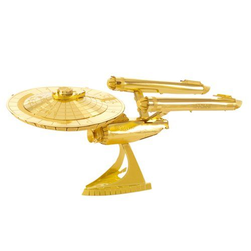 Star Trek Gold USS Enterprise NCC-1701 Metal Earth Model Kit - Fascinations - Star Trek - Model Kits at Entertainment Earth