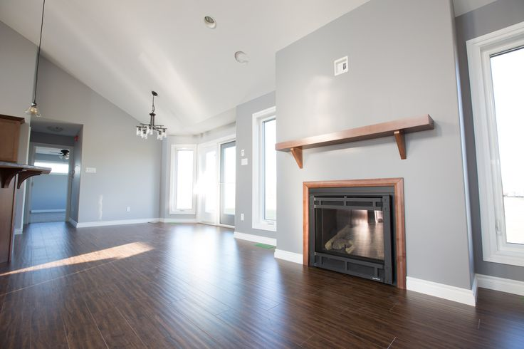Fireplace and dining room in the Burbank RTM.