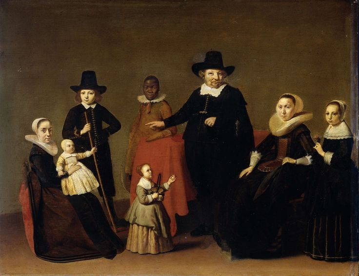 Family group with a black man, Willem Cornelisz. Duyster, Anonymous, c. 1631 - c. 1633 ~ a young boy, actually