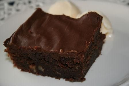 Hershey's Syrup Brownies- recipe exactly like the one in my recipe file from 1975. WOW!