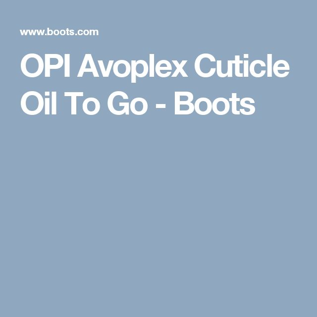 OPI Avoplex Cuticle Oil To Go - Boots
