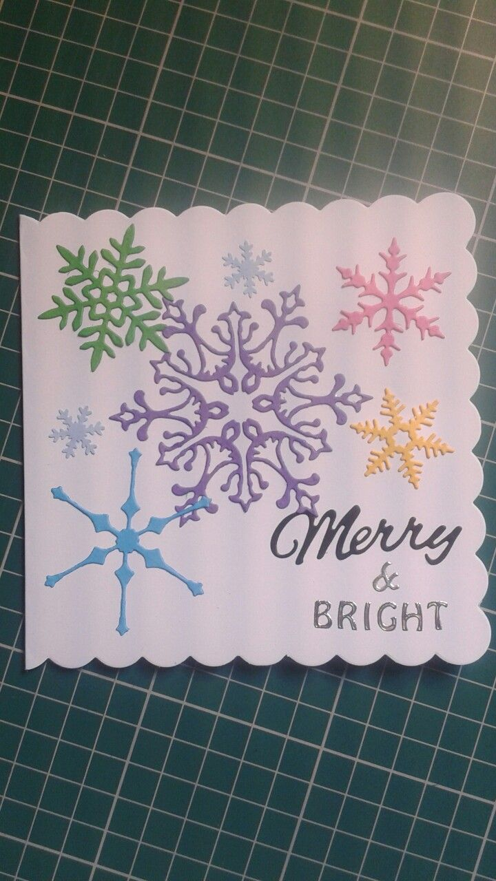 Merry and bright Christmas card. | Christmas card ideas | Pinterest ...