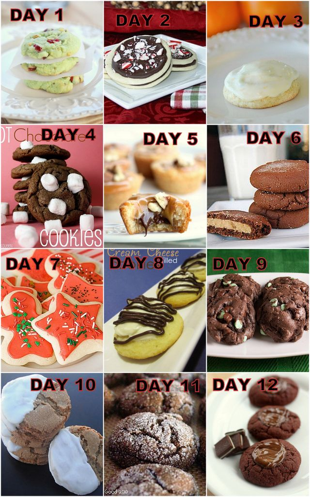 12 cookies of Christmas bake 1 cookie a day and distribute
