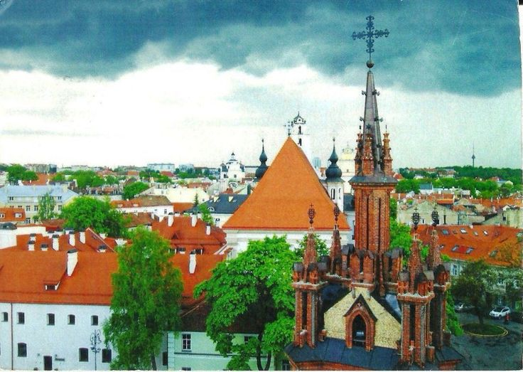 Old Town Vinius, Lithuania ( Postcard by Medmail, #0151, www.medmail.lt. Photo by Ida Janusauskaite)