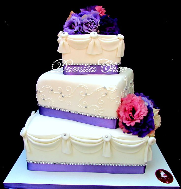#cake #fondant #wedding
