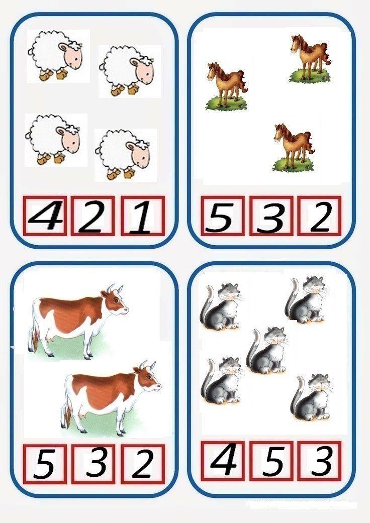 * Tellen boerderijdieren! 1-5