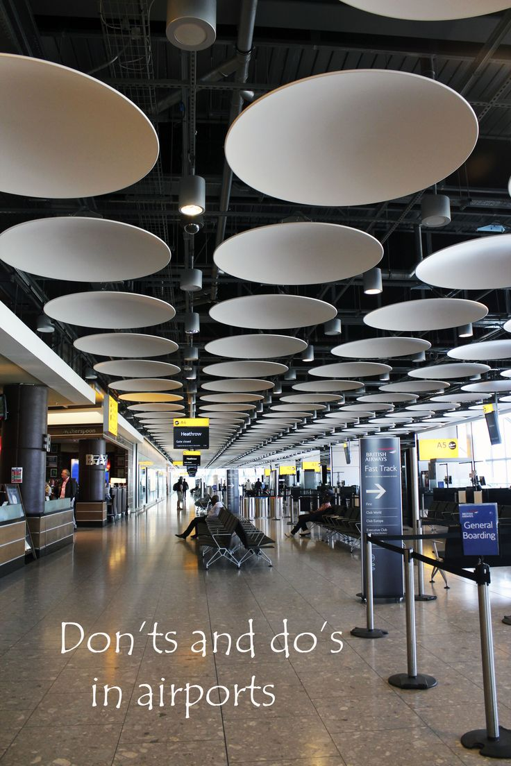 Make sure you get to your flight as soon as possible by following these advice http://aworldofbackpacking.com/dos-and-donts-in-an-airport/