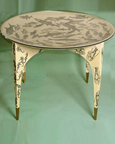 piero fornasetti furniture. Concave Table With Glass Top Designed By Gio Ponti And Decorated Piero Fornasetti Furniture L