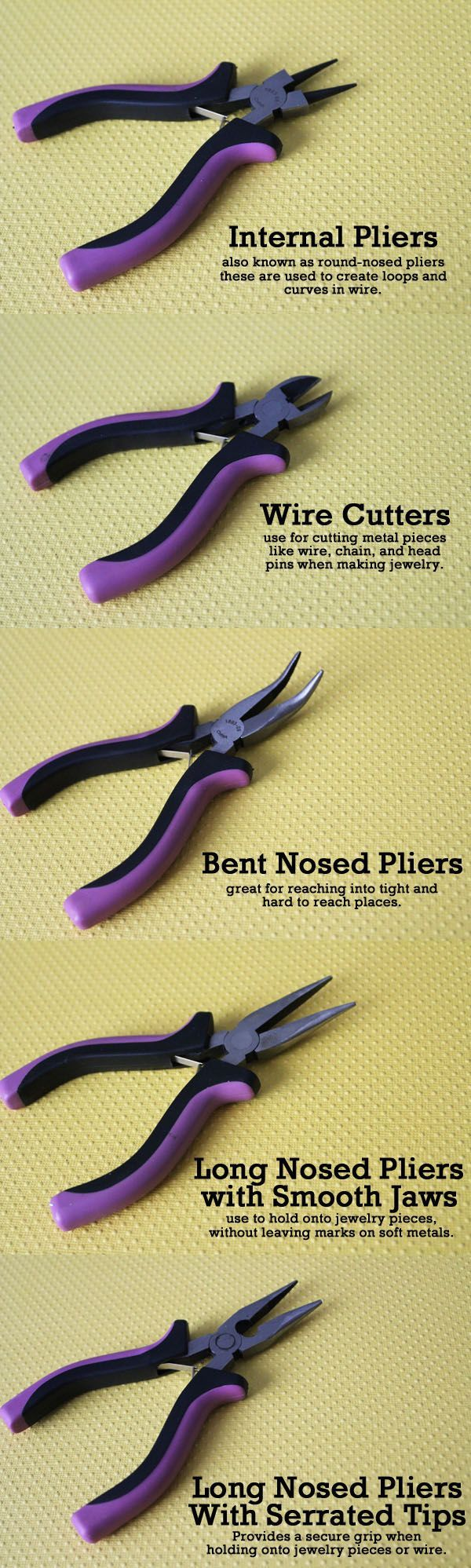 great post that explains what you need different jewelry pliers for