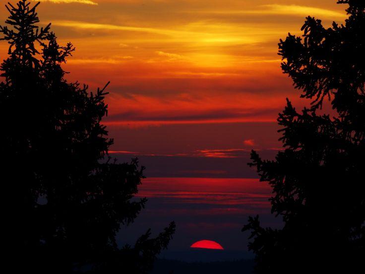 Des couleurs incroyables ce soir là, depuis le Solier, août 2013