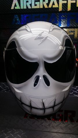 Jack Skellington Custom Motorcycle Helmet from Airgraffix