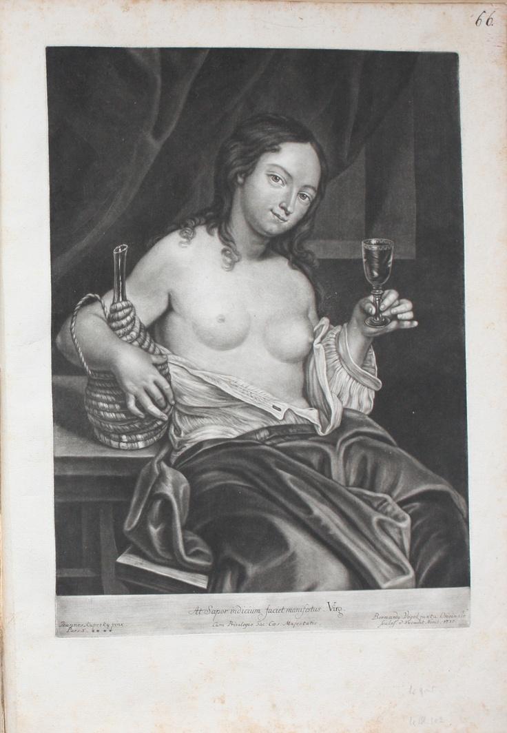 Titre : Effigies variasque Picturas Sculpteur : Bernardus VOGEL (Nuremberg 1683 – 1737) Peintre : Ioannes KUPEZKY (Prague ( ? ) v 1667 – Nuremberg 1740) Siècle : XVIIIème (1735 – 1737) Style : manière noire Mas - Estampes anciennes - Antique Print