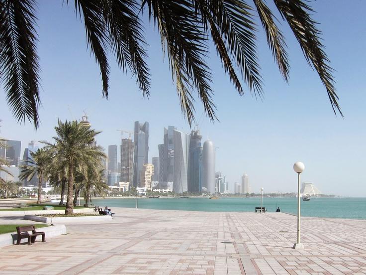 Doha Corniche. view on FB https://www.facebook.com/SinbadsQatarPocketGuide  credit: bintheredonethat
