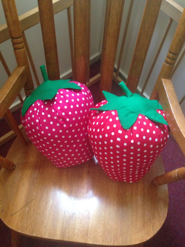 Strawberry cushions... Made it