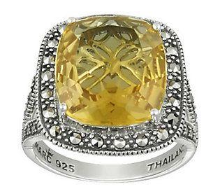 Suspicion Marcasite Sterling Quartz Ring