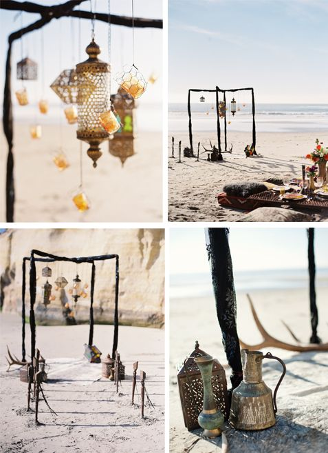 Are you going for a Boho beach- Moroccan inspired wedding? If so this would be a perfect way to mix in so a that flare!