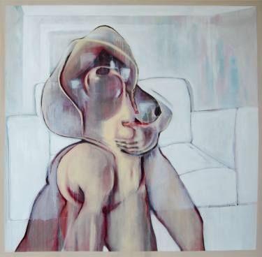 "Saatchi Art Artist Yunizar Mursyidi; Painting, ""Body in Room"" #art"