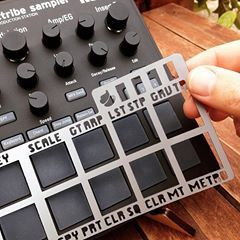 Shift Skin for Electribe & Electribe Sampler.  http://cremacaffedesign.com/electribe-skin/  #cremacaffedesign #korg #electribe #synth #sampler #shiftskin #overlay #synthskin #musicgear #electronicmusic #electribeskin #korgelectribe #musicianlife