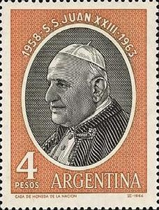 Stamp from Argentina commemorating Pope John XXIII
