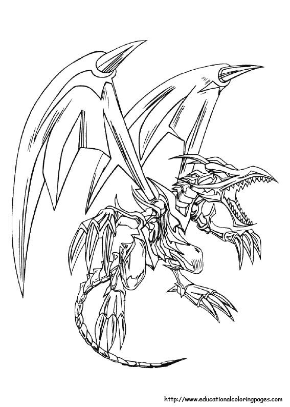 Yu Gi Ou Coloring Pages Free For Kids Dragon Coloring Page