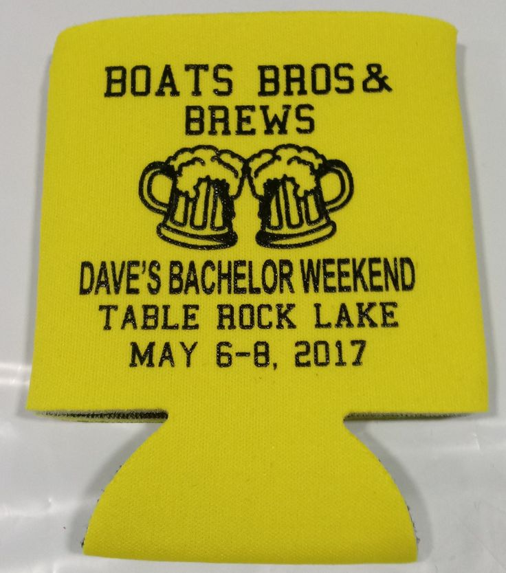 Lake Bachelor Party can coolers personalized