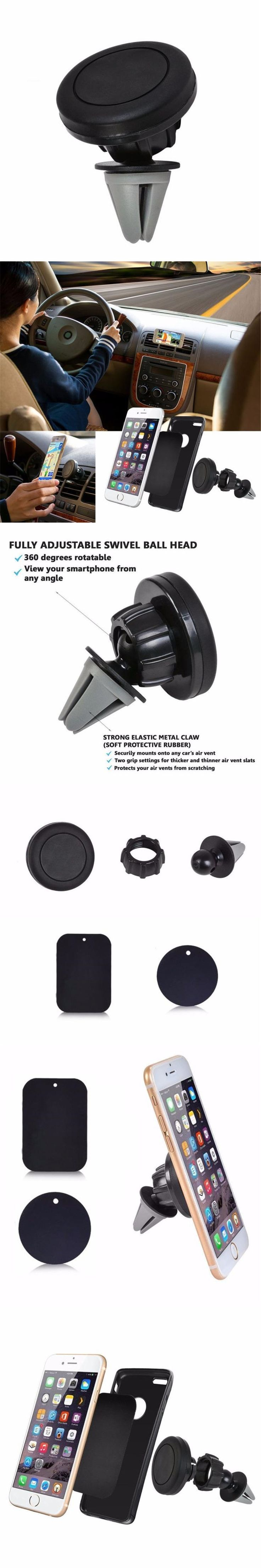 Car-Styling Car Mount Holder Magnetic Air Vent Cradle Grip Magic Mobile Phone Universal td1031 drop shipping