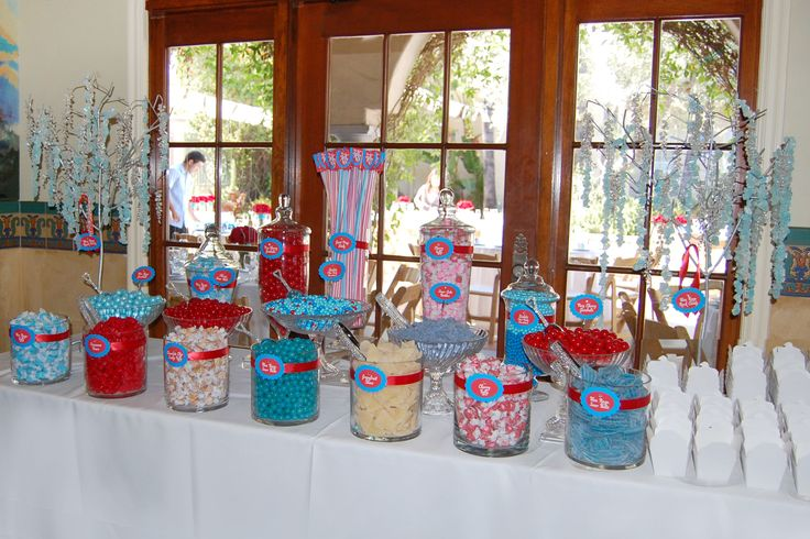 Crimson Red U Turquoise Blue Wedding Candy Buffet Bowers Museum Santa Ana Ca Catered